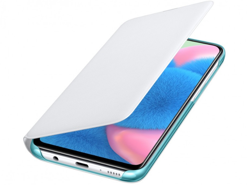 Чехол Samsung Galaxy A30s Wallet Cover White EF-WA307PWEGRU