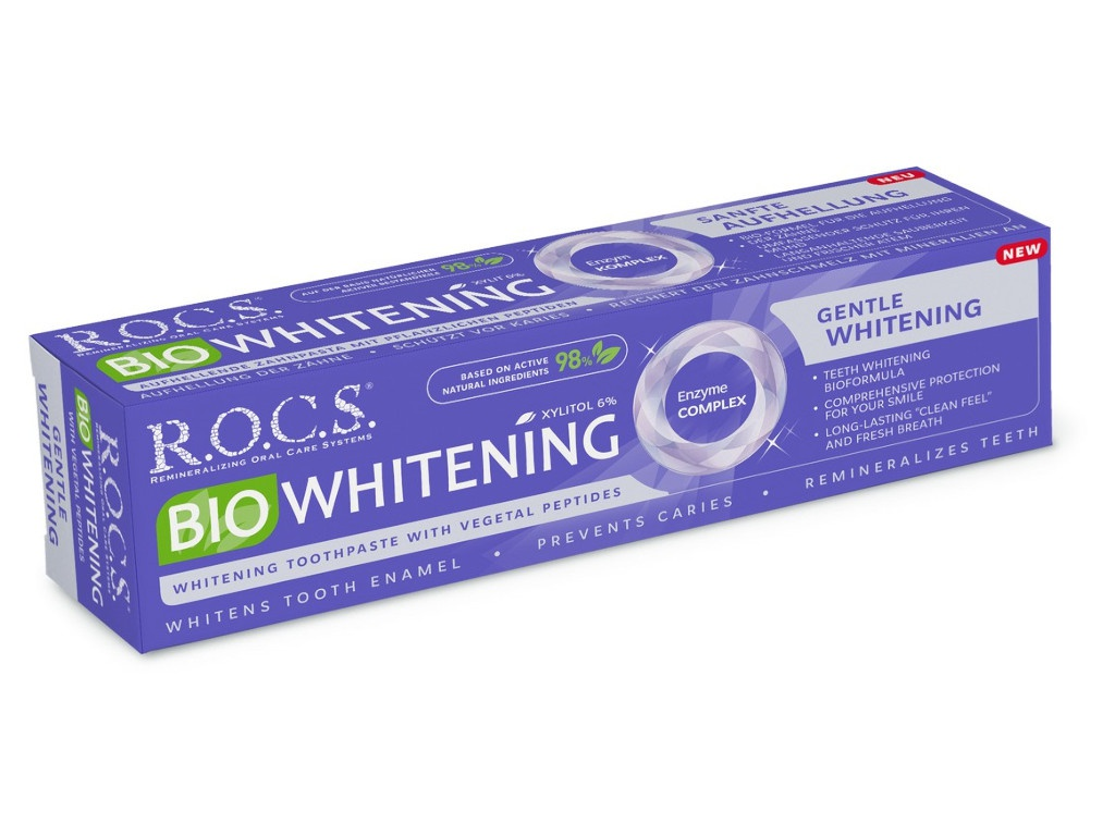Зубная паста R.O.C.S. BIOWHITENING Безопасное отбеливание 94g 03-01-055 цена