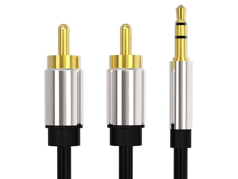 Аксессуар Vention Jack 3.5mm/M - 2RCA/M 1.5m Black P550AC150-S