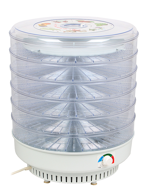 Сушилка Спектр-Прибор ЭСОФ-0.6/220 Ветерок-2У прозрачный (6 поддонов, поддон для пастилы) В гофротаре