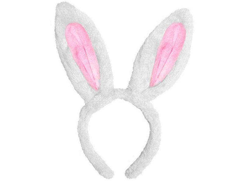 Ободок карнавальный Магия праздника Уши Зайки 25cm NY190 Pink