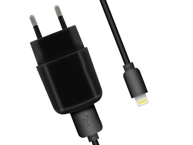 Аксессуар Krutoff CH-02L 2.1A USB - Lightning Black 03566