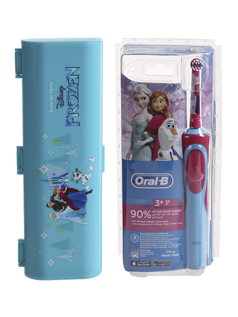 Зубная электрощетка Braun Oral-B Stages Power Frozen D12.513K + Travel Case