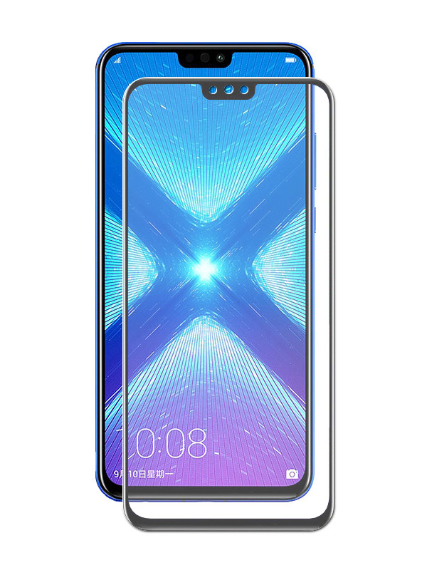 Аксессуар Защитное стекло Media Gadget для Honor 8X 2.5D Full Cover Glass Glue Premium Black Frame PMGFCH8XFGMBK