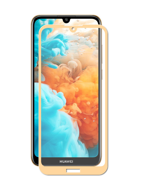 Аксессуар Защитное стекло Media Gadget для Huawei Y6 2019 2. 5D Full Cover Glass Full Glue Gold Frame MGFCHY6P19FGGL