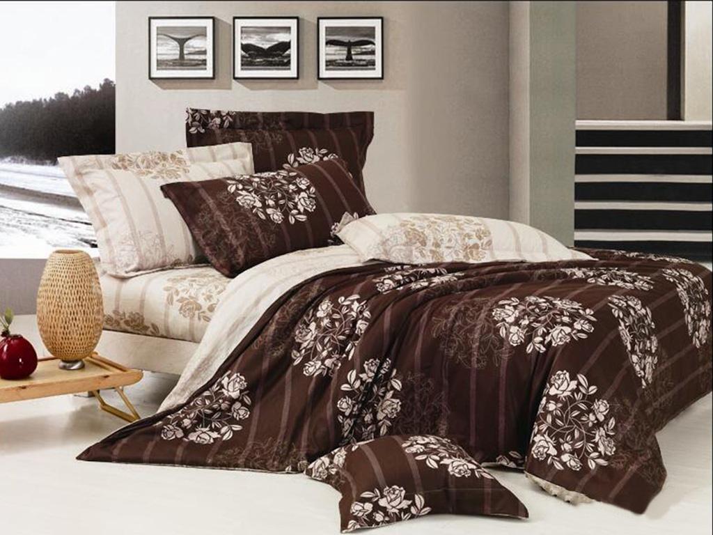 Постельное белье Cleo Satin Lux 31/409-SL Комплект Евро Сатин