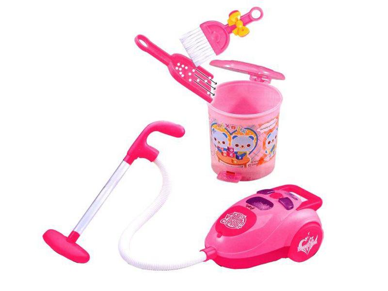 Наша игрушка Пылесос с набором для уборки 1501A