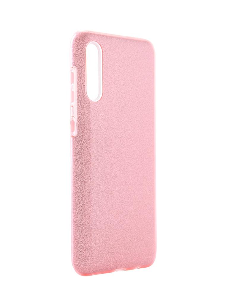 Чехол Neypo для Samsung Galaxy A30s 2019 Brilliant Silicone Pink Crystals NBRL15316