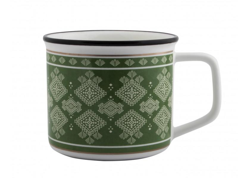 Новогодний сувенир Эврика Зимние узоры 250ml Green 99390