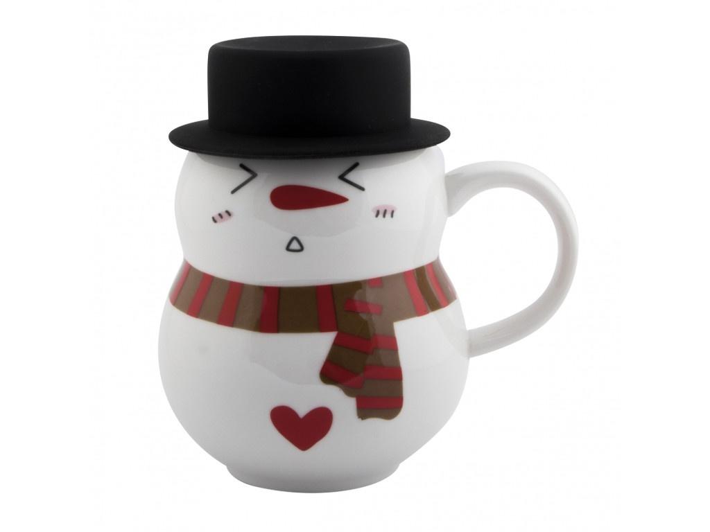 Новогодний сувенир Эврика Снеговик в шляпе 4 300ml 99397