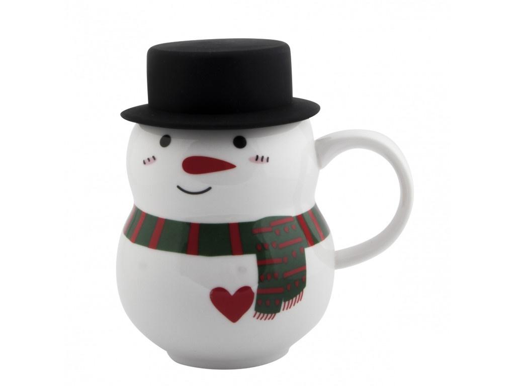 Новогодний сувенир Эврика Снеговик в шляпе 3 300ml 99396