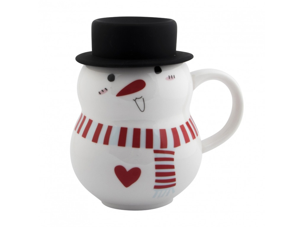 Новогодний сувенир Эврика Снеговик в шляпе 2 300ml 99395
