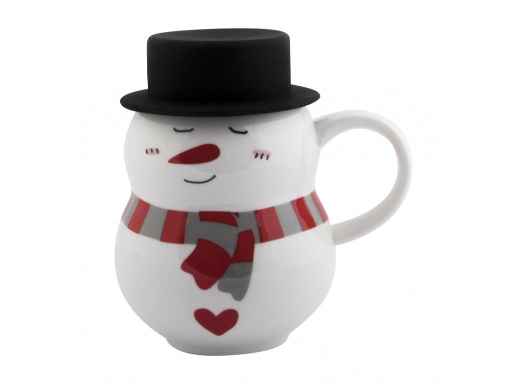 Новогодний сувенир Эврика Снеговик в шляпе 1 300ml 99394