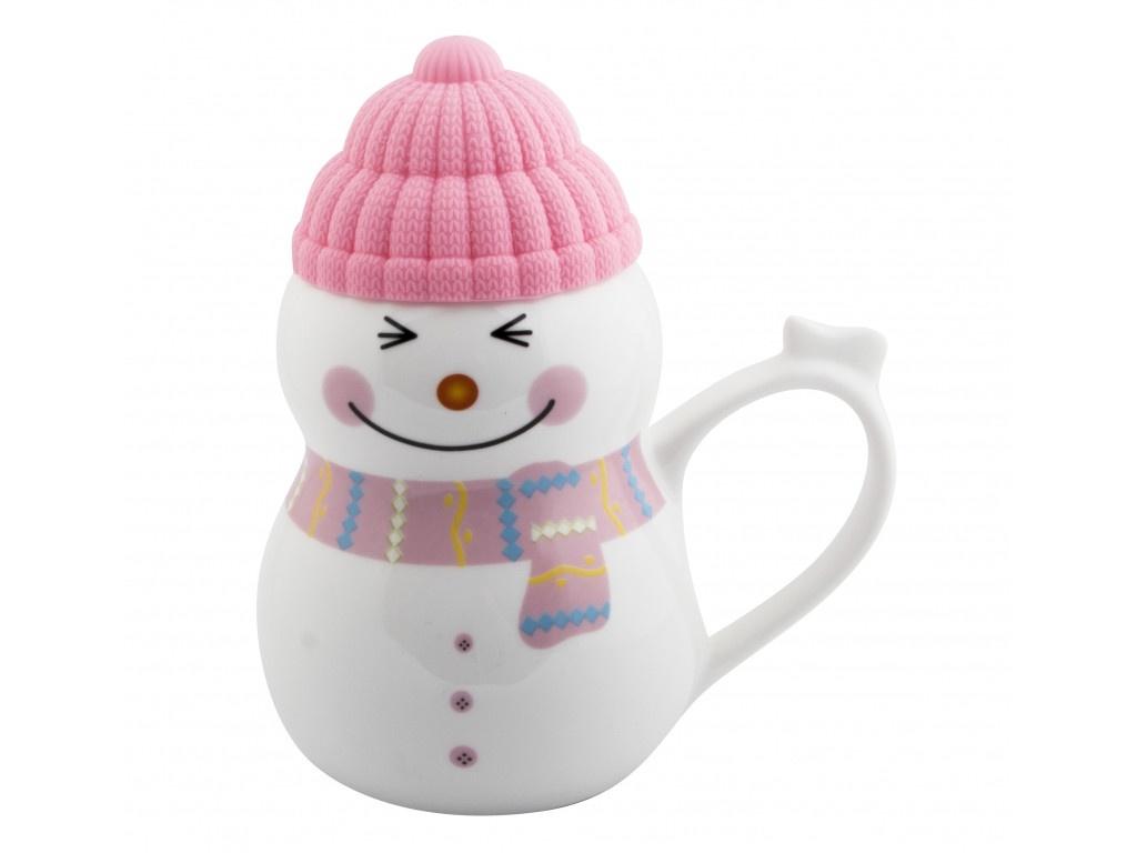 Новогодний сувенир Эврика Снеговик растопи лёд 500ml Pink 99402