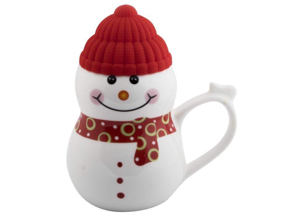 Новогодний сувенир Эврика Снеговик растопи лёд 500ml Red 99405