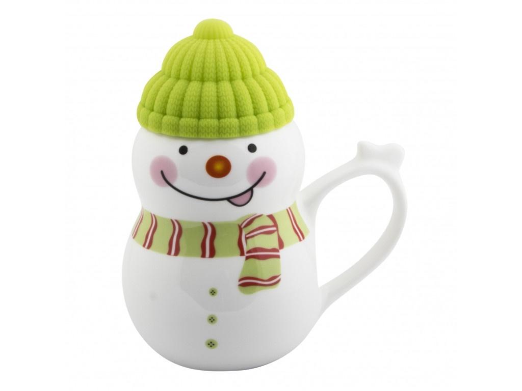 Новогодний сувенир Эврика Снеговик растопи лёд 500ml Green 99403
