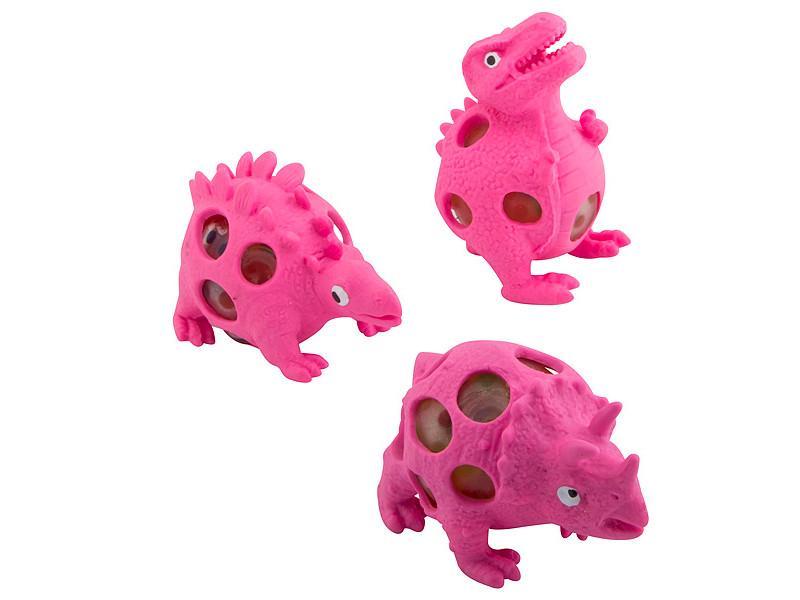 Игрушка антистресс Эврика Динозавры набор 3шт Pink 99423