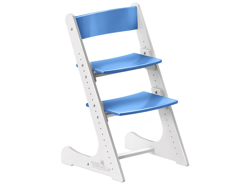 Стул Растущий стульчик Конек Горбунёк Универсальный White-Blue