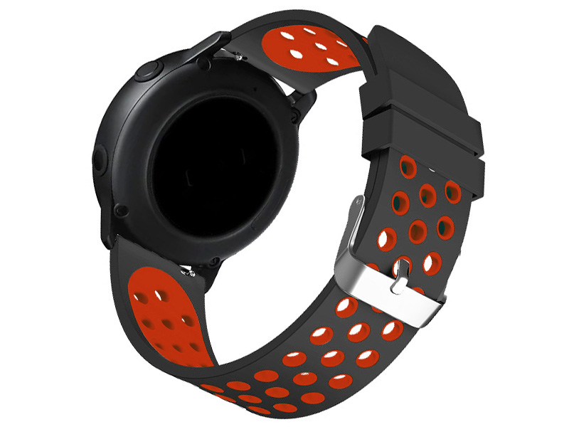 Аксессуар Ремешок DF для Samsung Galaxy Watch Active sSportband-01 Black-Red