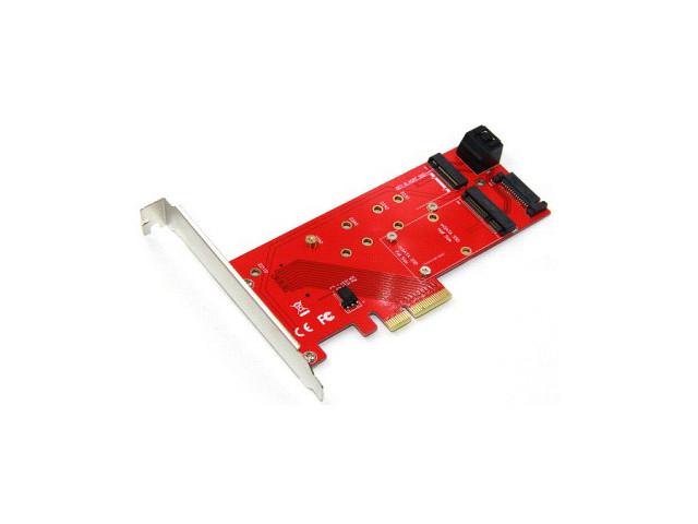 Аксессуар Переходник Orient C297E PCI-E 4x to NGFF (M.2) M-key / SATA B-key mSATA 30897
