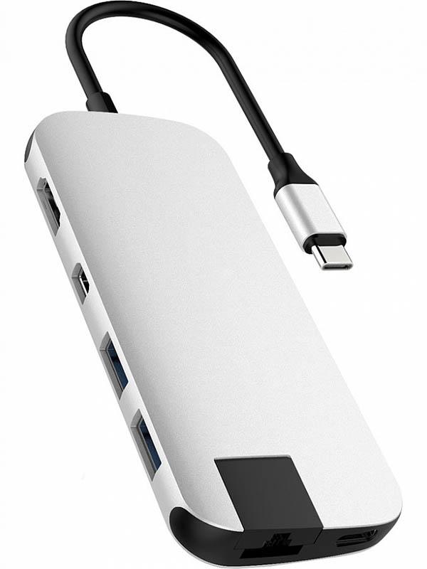 Хаб USB HyperDrive Hyper Slim 8-in-1 Hub Silver HD247B-SILVER