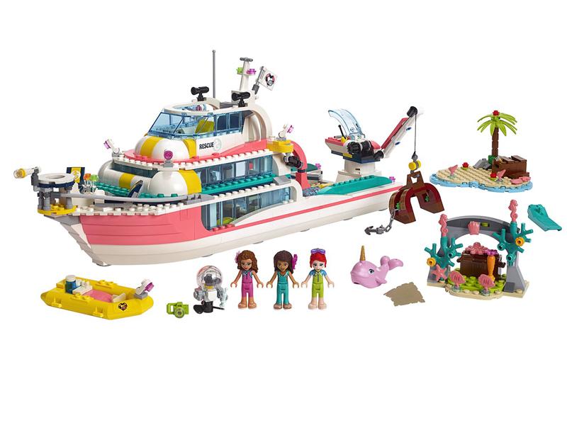 Конструктор Lego Friends Катер для спасательных операций 908 дет. 41381 цена