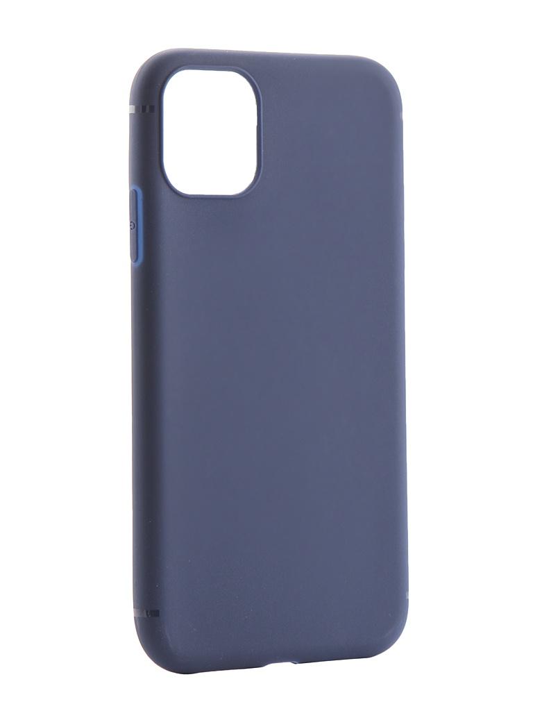 Фото - Аксессуар Чехол Zibelino для APPLE iPhone 11 2019 Soft Matte Dark Blue ZSM-APL-11-DBLU аксессуар чехол zibelino для apple iphone xr soft matte blue zsm apl xr blu