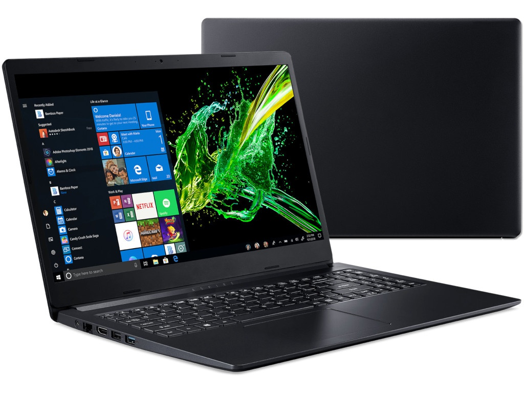 Ноутбук Acer Aspire A315-22-619W Black NX.HE8ER.010 (AMD A6-9220e 1.6 GHz/8192Mb/256Gb SSD/AMD Radeon R4/Wi-Fi/Bluetooth/Cam/15.6/1920x1080/Windows 10 64-bit)