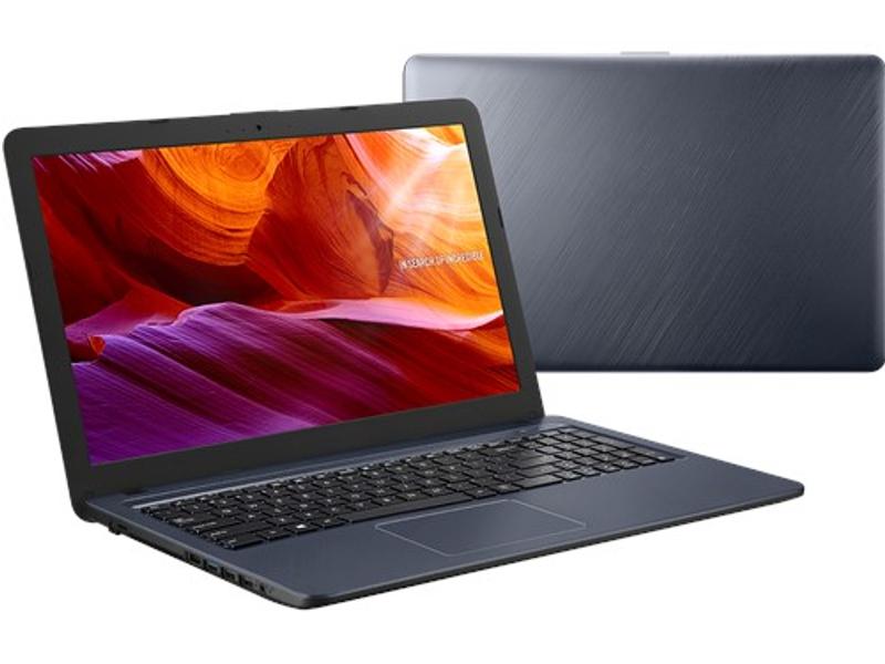 Ноутбук ASUS VivoBook X543UA-DM1663T Grey 90NB0HF7-M32940 (Intel Core i3-7020U 2.3 GHz/4096Mb/128Gb SSD/Intel HD Graphics/Wi-Fi/Bluetooth/Cam/15.6/1920x1080/Windows 10 Home 64-bit)