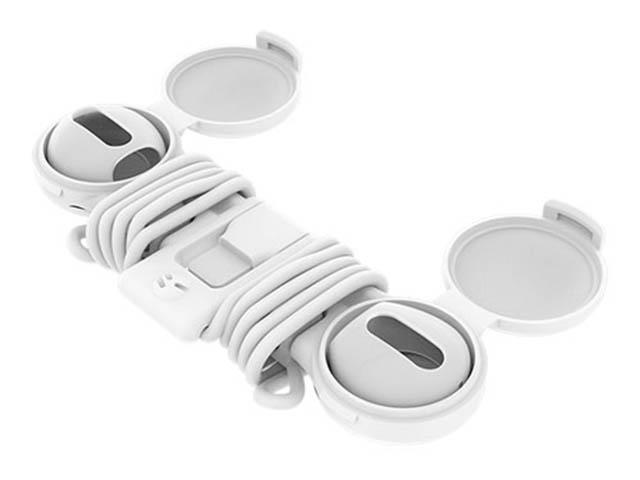 Аксессуар Амбюшуры с футляром и ремешком на шею SwitchEasy для APPLE AirPods AirBuddy Case White GS-108-40-165-12