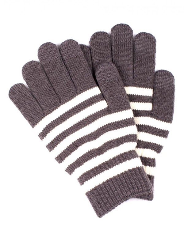 Теплые перчатки для сенсорных дисплеев Territory 0918 Light Grey все цены