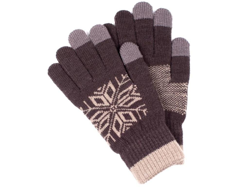 Теплые перчатки для сенсорных дисплеев Territory 0718 Dark Grey