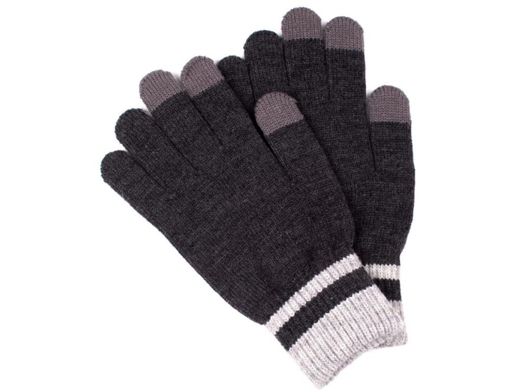 Теплые перчатки для сенсорных дисплеев Territory 0518 Dark Grey
