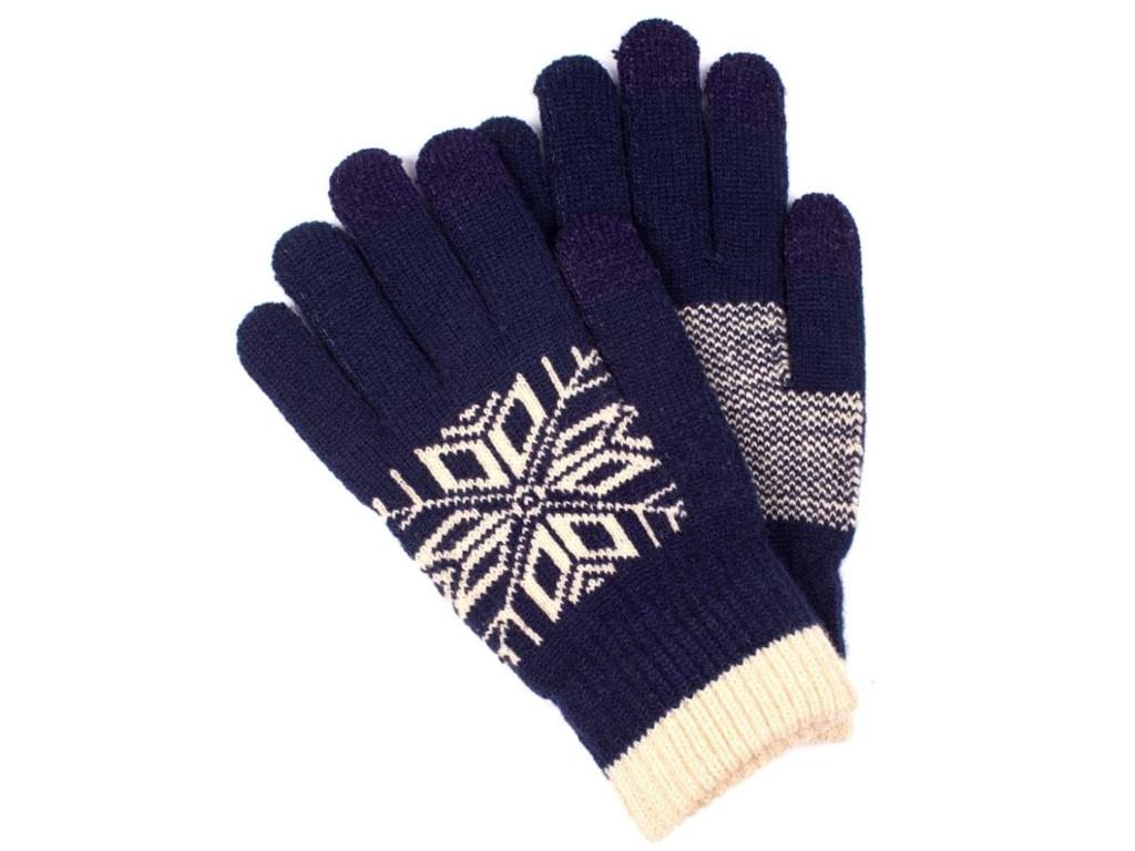 Теплые перчатки для сенсорных дисплеев Territory 0318 Blue
