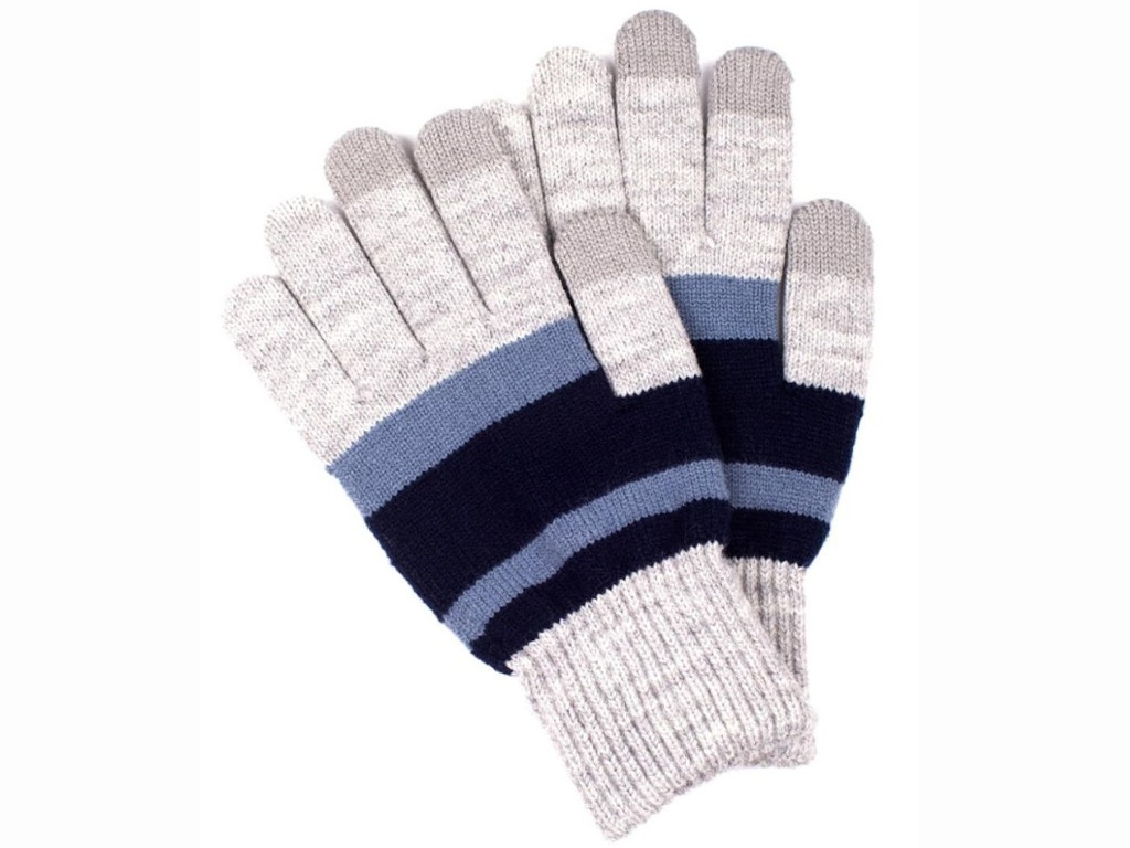 Теплые перчатки для сенсорных дисплеев Territory 0218 Blue-Grey