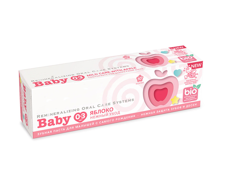 Зубная паста R.O.C.S. Baby Нежный уход Яблоко 45g 03-01-058