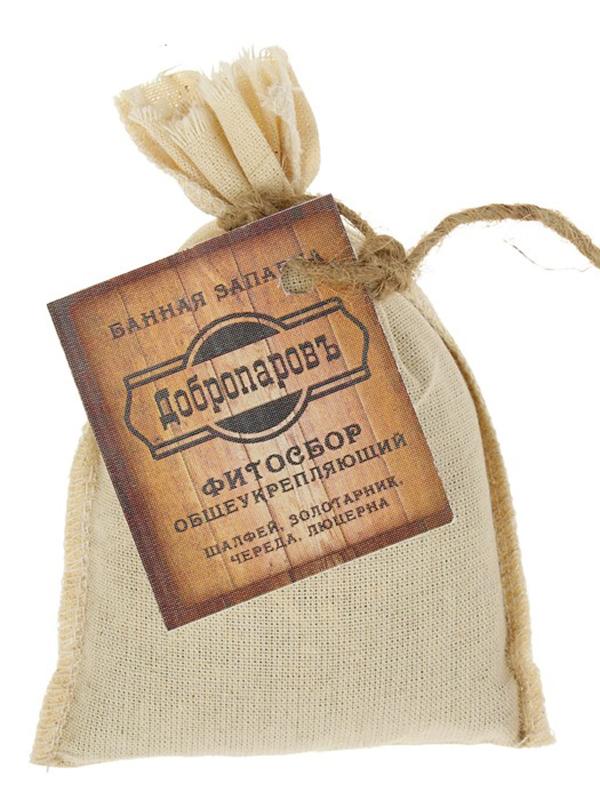 Запарка фитосбор Добропаровъ Общеукрепляющий шалфей, золотарник, череда, люцерна 30гр 3036245