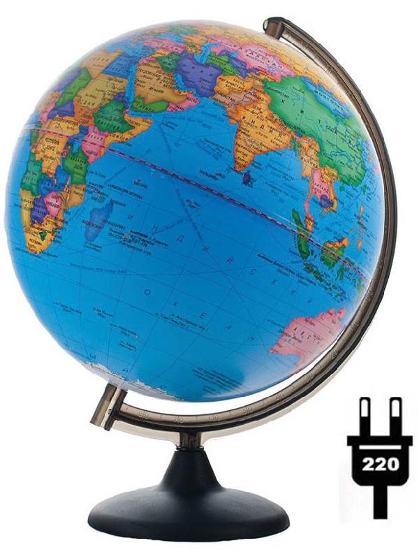 Глобус Глобусный Мир VR Политический 200mm с подсветкой 17001 глобус глобусный мир 10406 с физической картой мира с подставкой синий диаметр 64 см