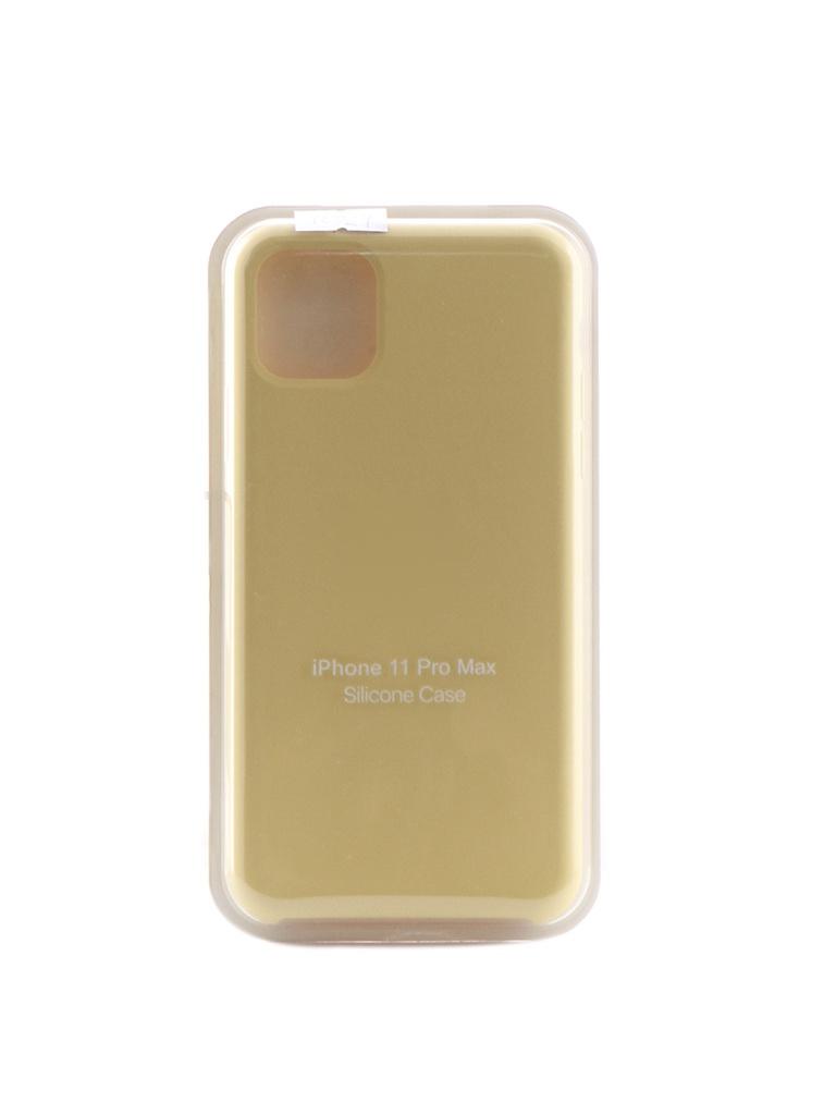 Чехол Krutoff для APPLE iPhone 11 Pro Max Silicone Case Yellow 10921