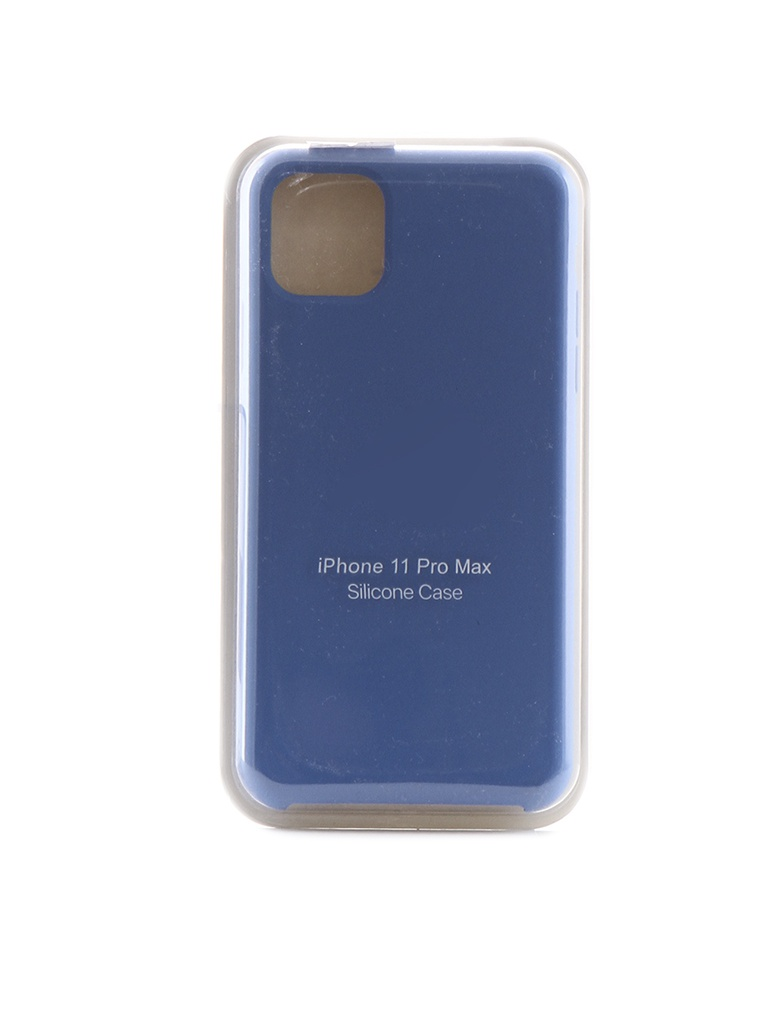 Чехол Krutoff для APPLE iPhone 11 Pro Max Silicone Case Royal Blue 10920