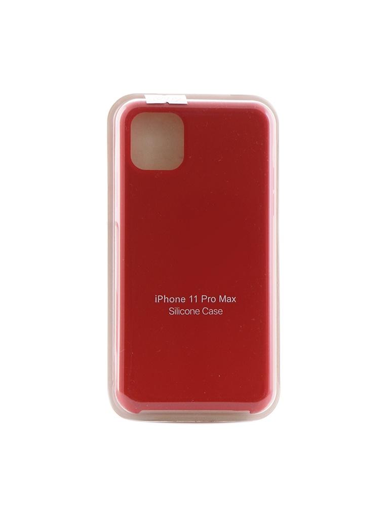Чехол Krutoff для APPLE iPhone 11 Pro Max Silicone Case Red 10919