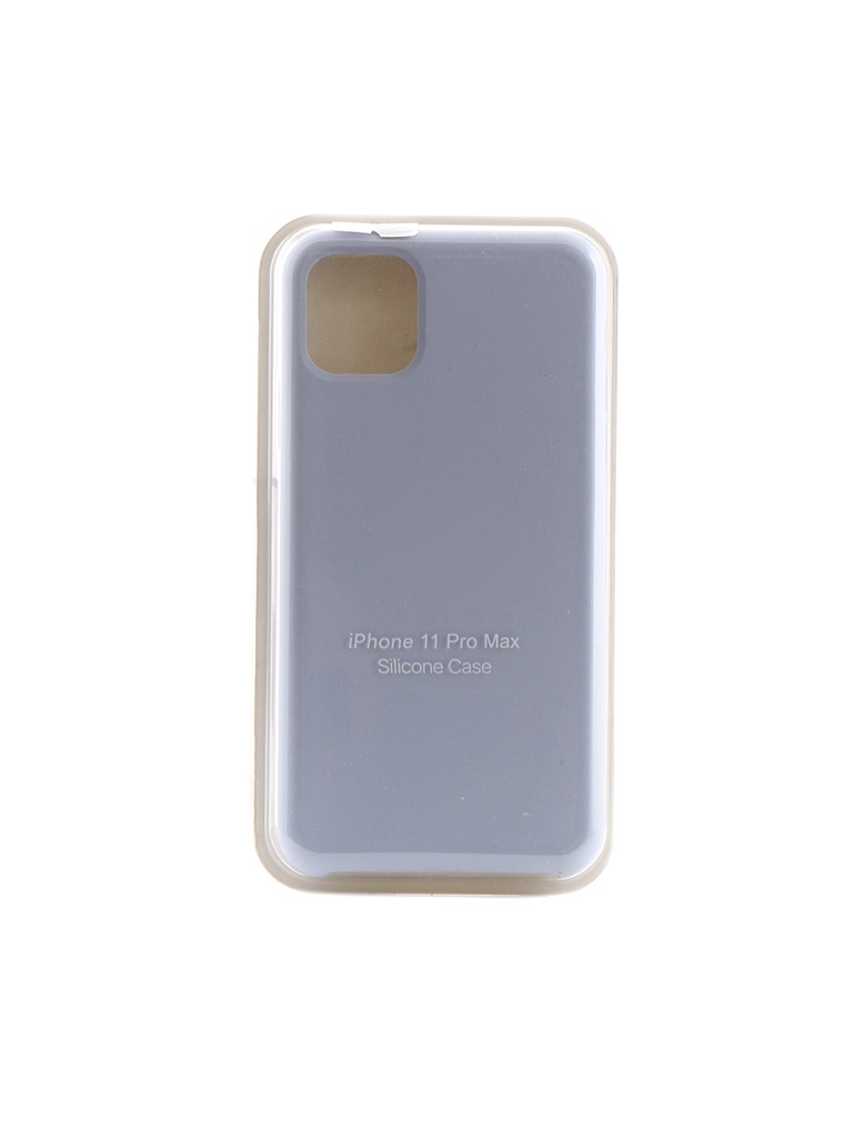 Чехол Krutoff для APPLE iPhone 11 Pro Max Silicone Case Light Blue 10915