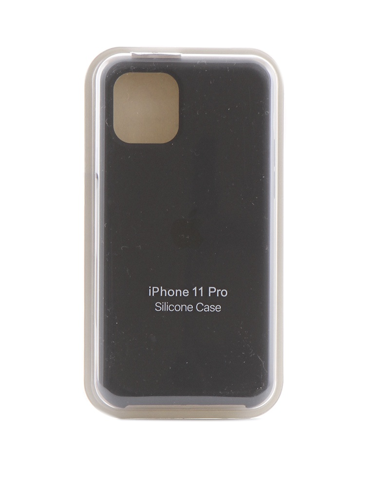 Чехол Krutoff для APPLE iPhone 11 Pro Silicone Case Charcoal Gray 10905 цена 2017