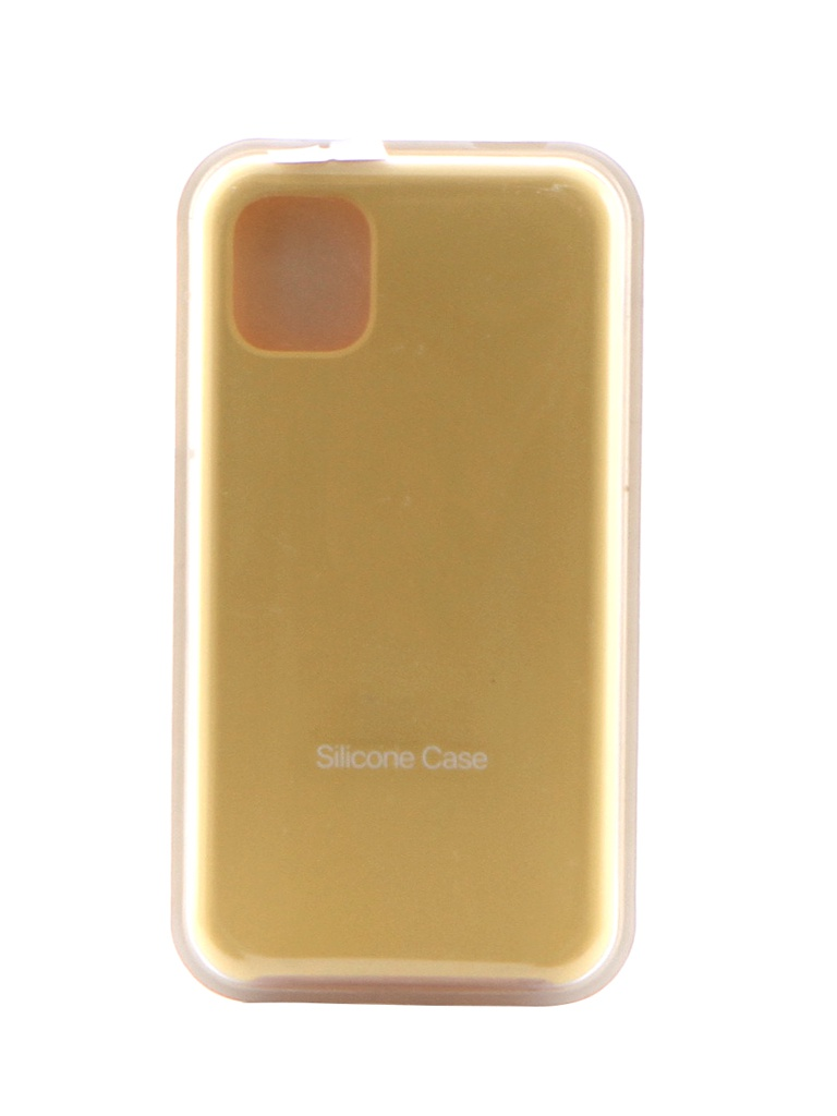 Чехол Krutoff для APPLE iPhone 11 Silicone Case Yellow 10903