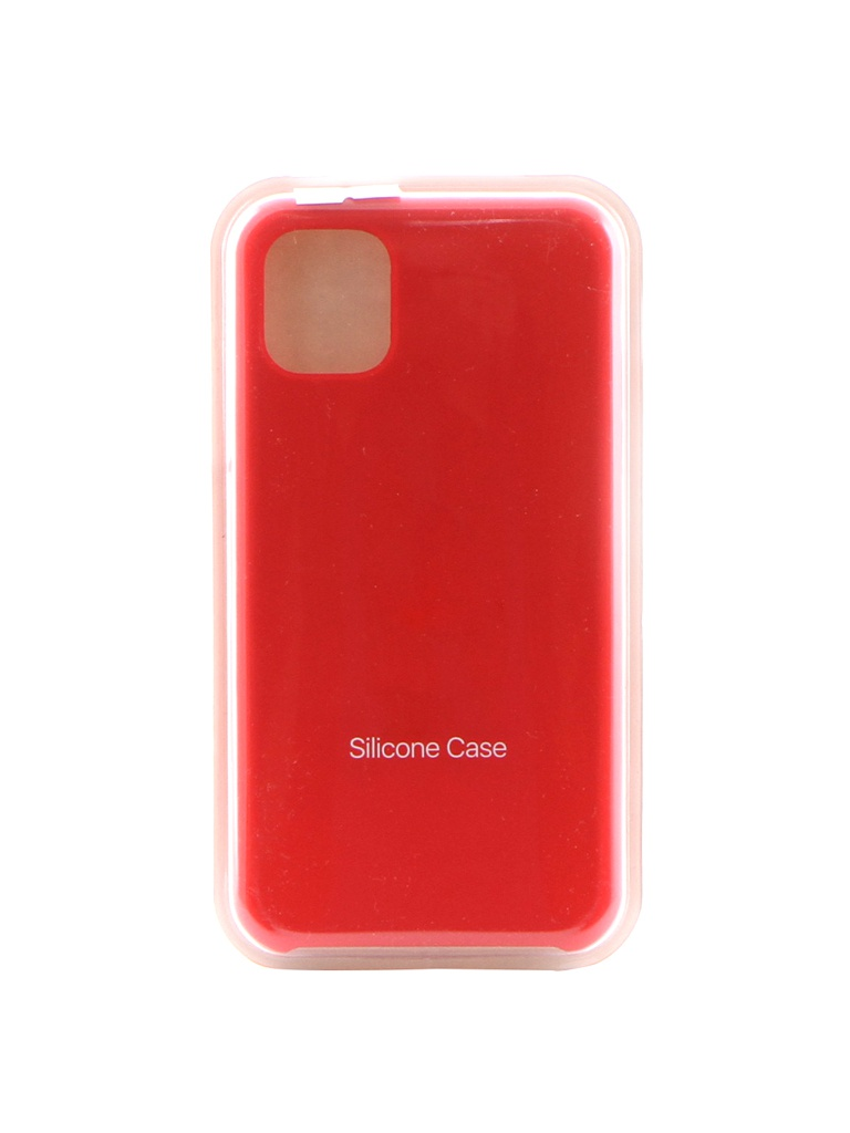 Аксессуар Чехол Krutoff для APPLE iPhone 11 Silicone Case Red 10901