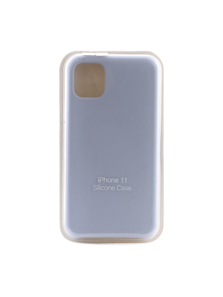 Аксессуар Чехол Krutoff для APPLE iPhone 11 Silicone Case Light Blue 10897
