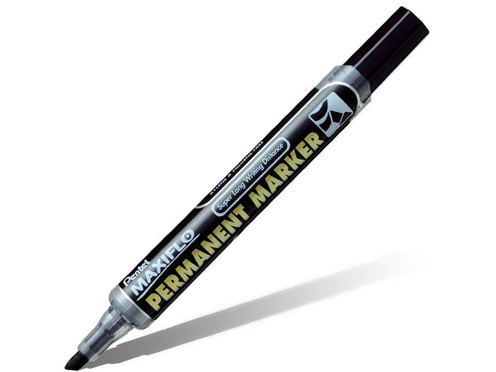 Маркер Pentel перманентный с жидкими чернилами 1.8/4.5mm Black NLF60-A
