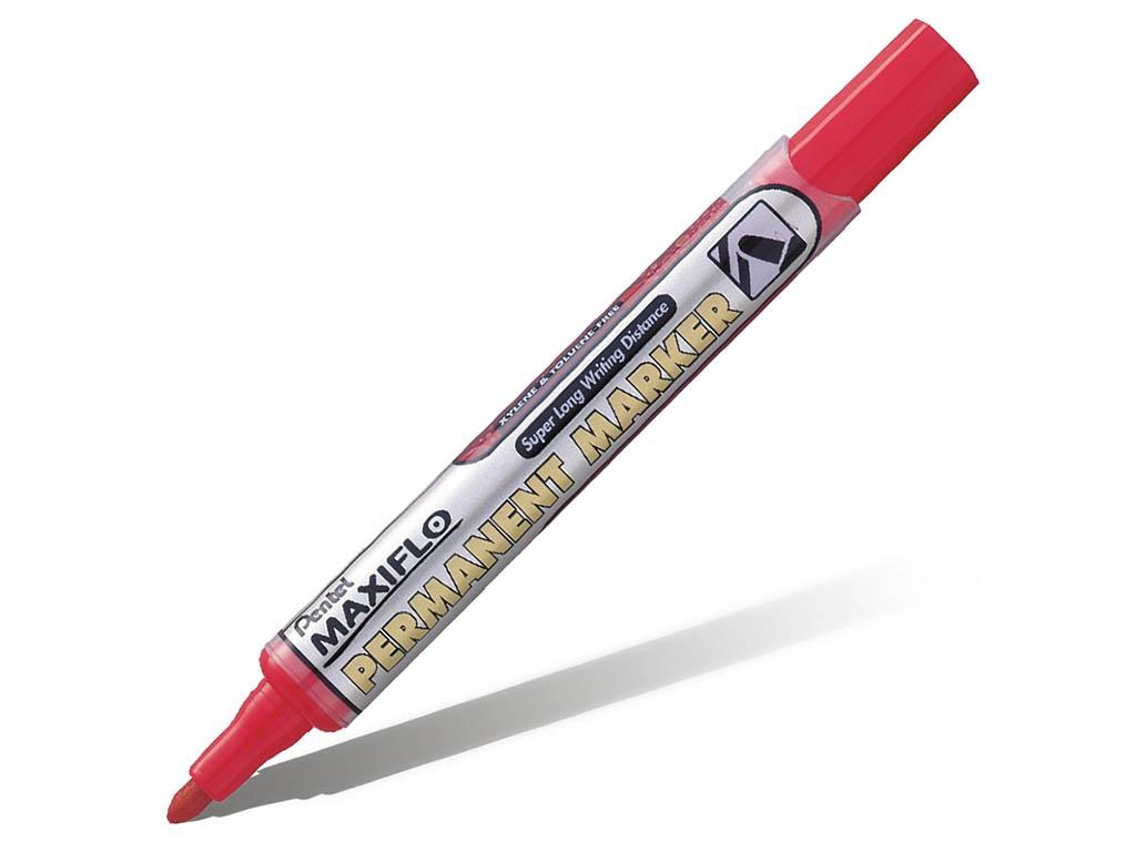 Маркер Pentel перманентный с жидкими чернилами 4.5mm Red NLF50-B