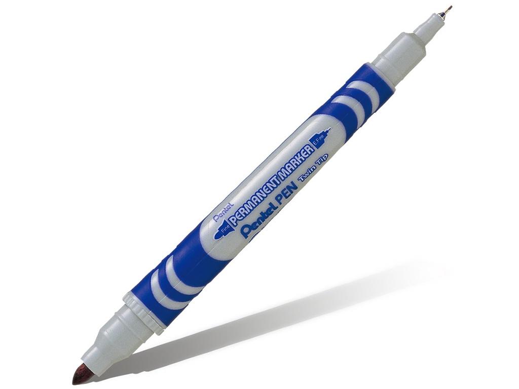 Маркер Pentel перманентный 0.6/3.5mm Blue N65W-C