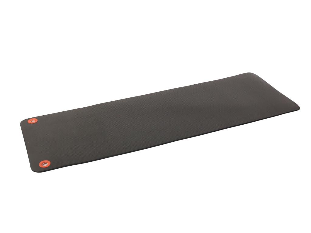 Коврик Larsen NBR 183x61x1.5cm Black с люверсами для хранения